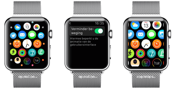 verminder beweging Apple Watch