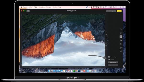 verticaal spiegelen in Foto OS X