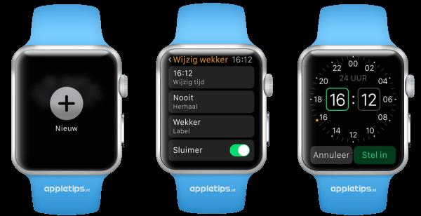 wekkers op de Apple Watch