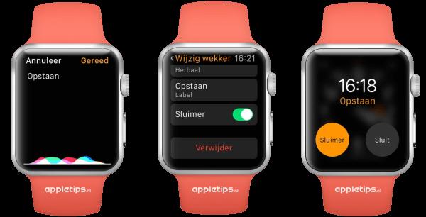 wekker op Apple Watch