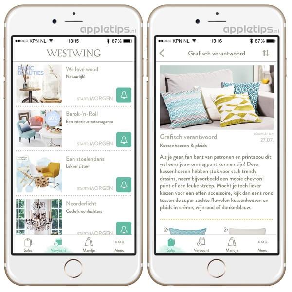 westwing app voorbeeld