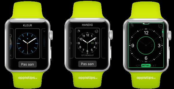de klok aanpassen op Apple Watch