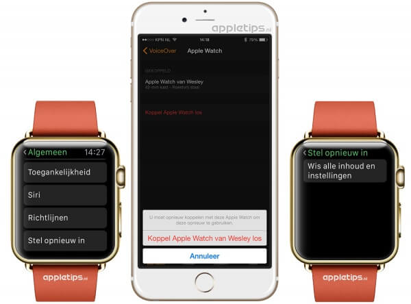 Apple Watch ontkoppelen