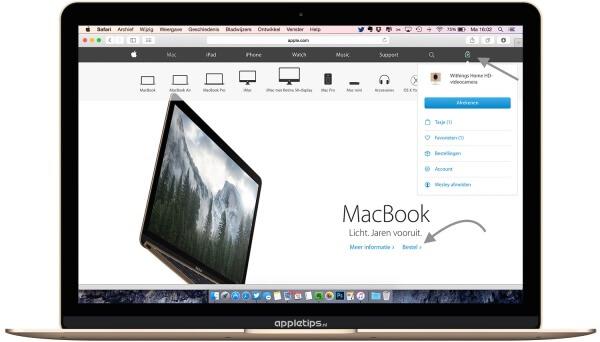Producten bestellen apple pagina