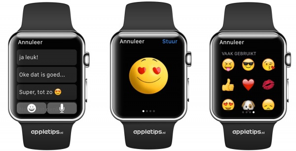 Emoji versturen Apple Watch