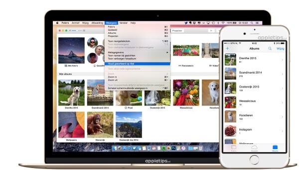 Fotoalbums sorteren aanpassen