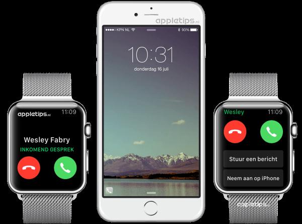 Apple Watch gesprek doorsturen