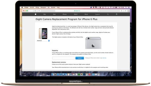 vervangingsprogramma iPhone 6 plus