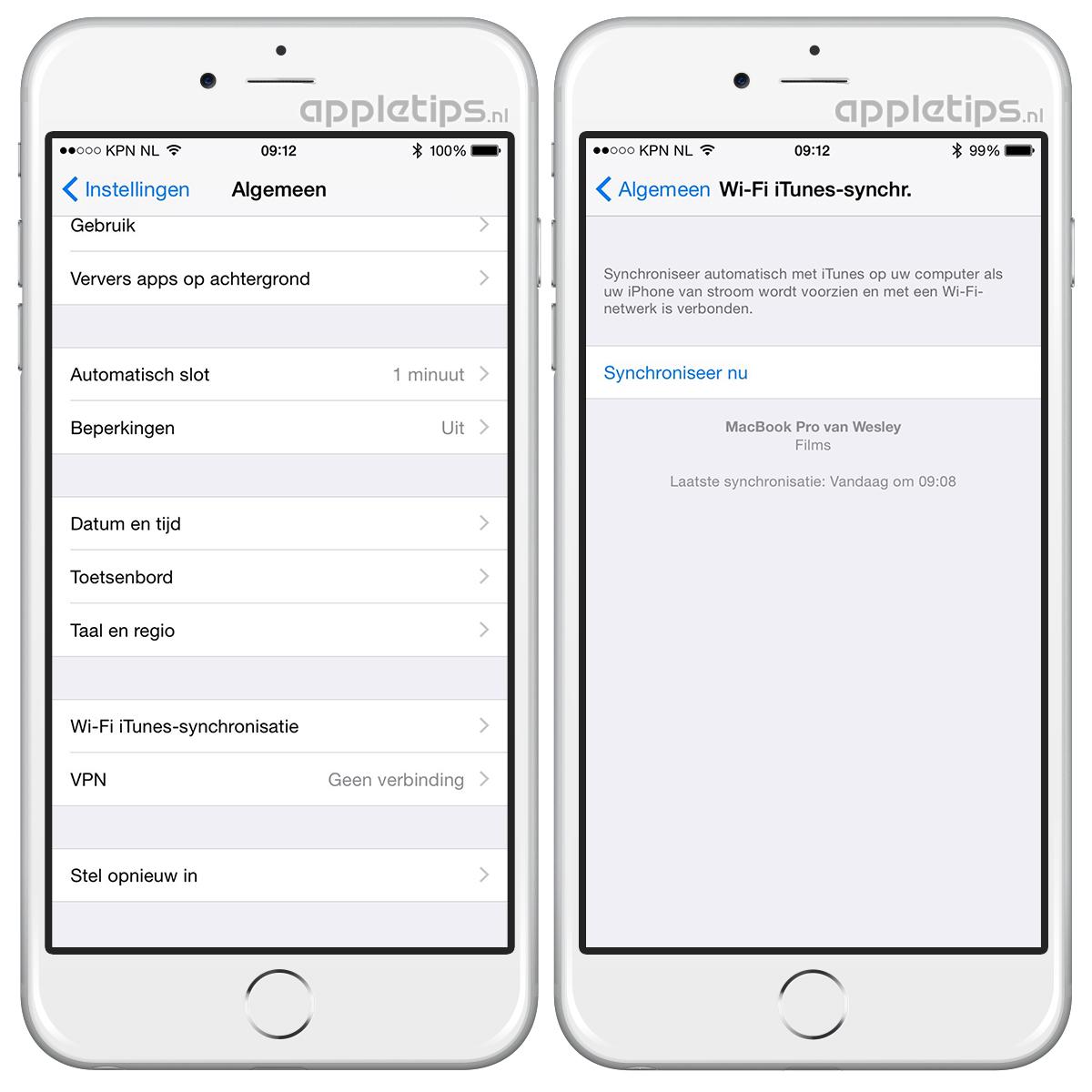 Wi Fi Synchronisatie Starten Vanaf Iphone Appletips