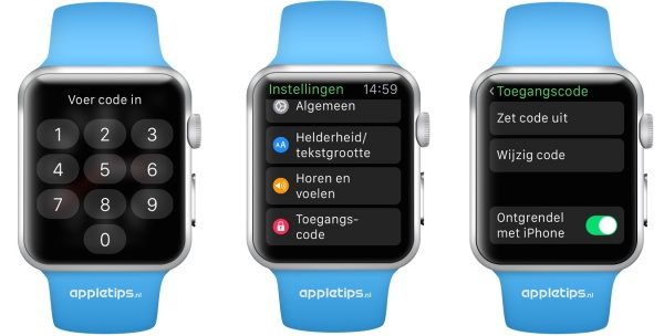 Ontgrendelen Apple Watch