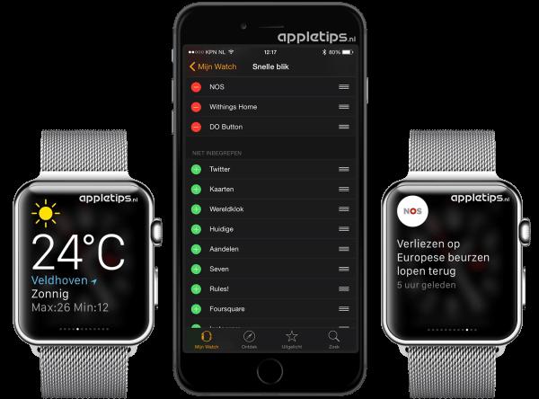 snelle blik aanpassen Apple Watch