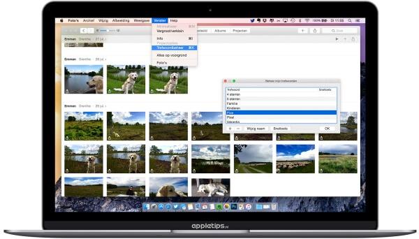 Trefwoorden foto's voor OS X