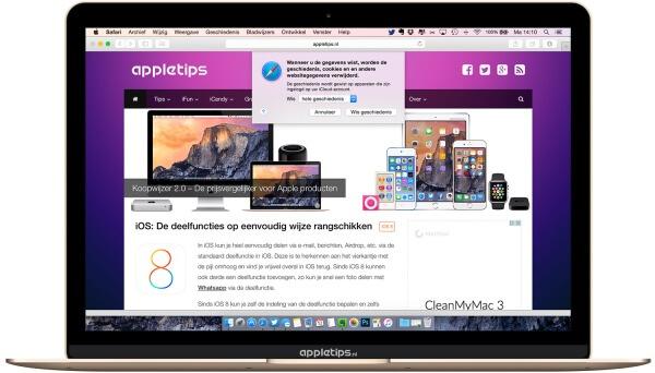 veel bezocht wissen in OS X