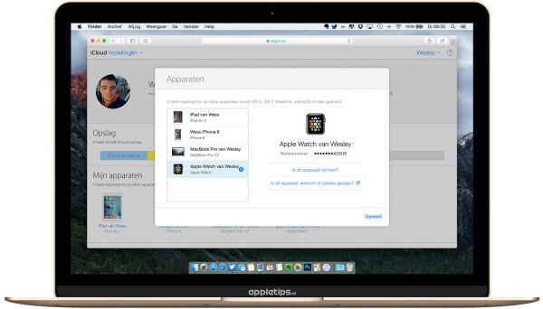 iCloud activeringsslot Apple Watch