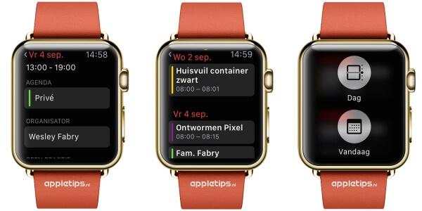 agenda app Apple Watch