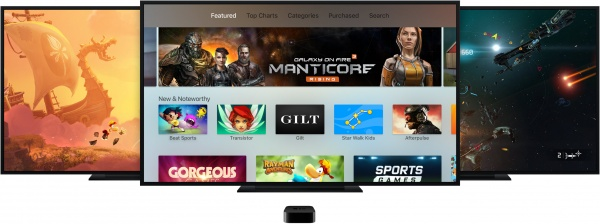apple TV4 full app store