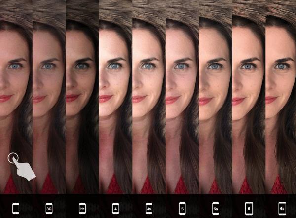 camera vergelijken iPhones portret