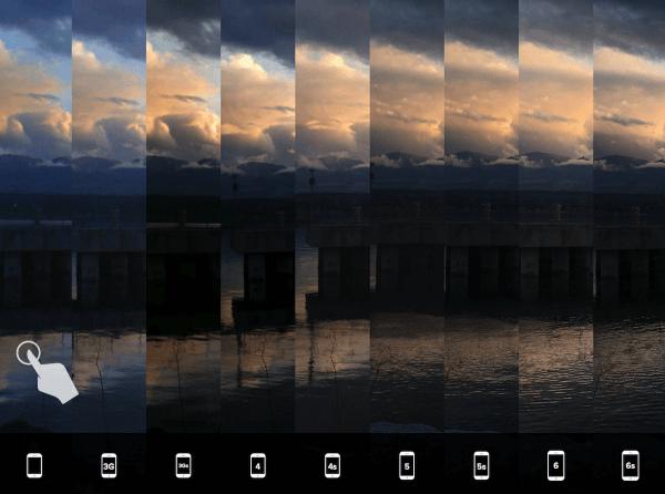 camera vergelijken iPhones landschap