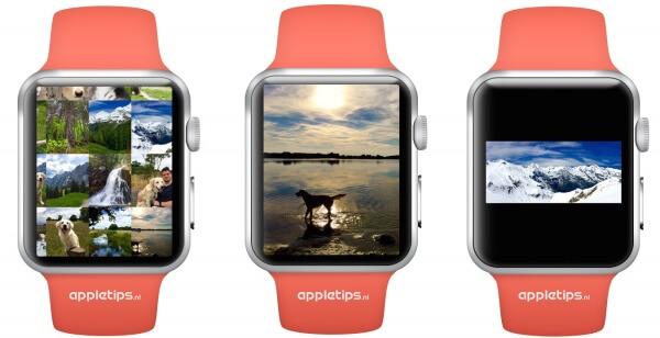 Foto's bekijken op Apple Watch