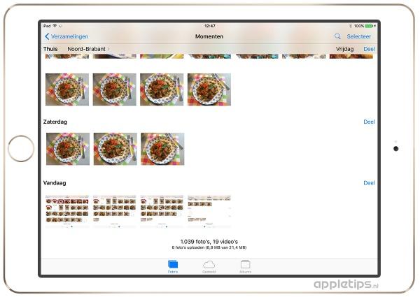 upload proces foto's bekijken