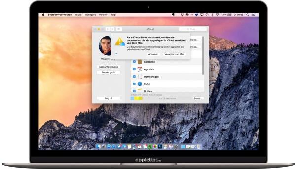 iCloud uitschakelen mac
