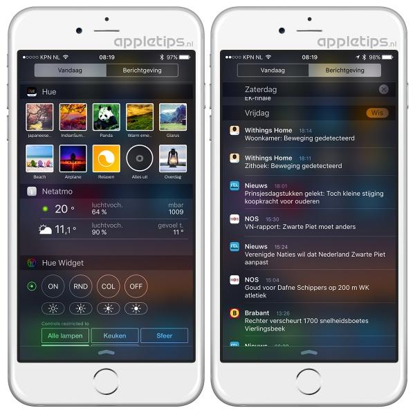 berichtgeving, berichtencentrum, ios 9, ios, iphone, ipad,
