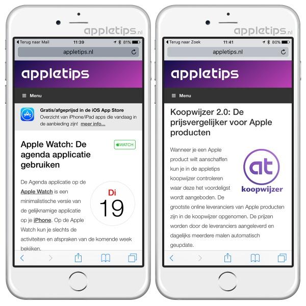 app link, ios 9, ios, iphone, ipad, zoeken,