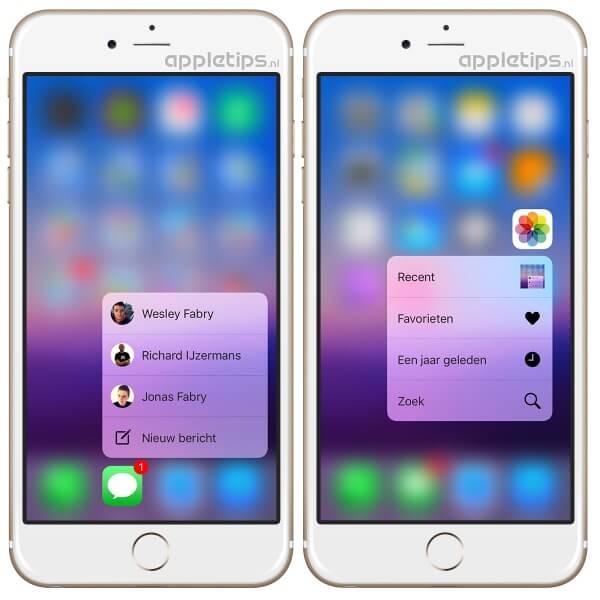 3d Touch op de iPhone 6s