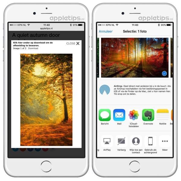 foto als achtergrond in iOS