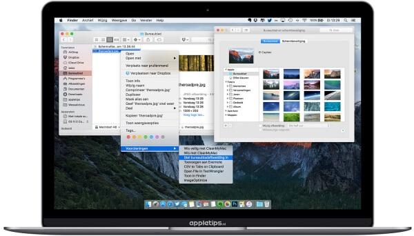 Foto als achtergrond op een Mac