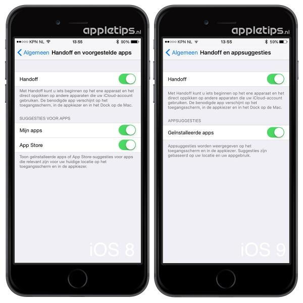 handoff appstore iOS 9