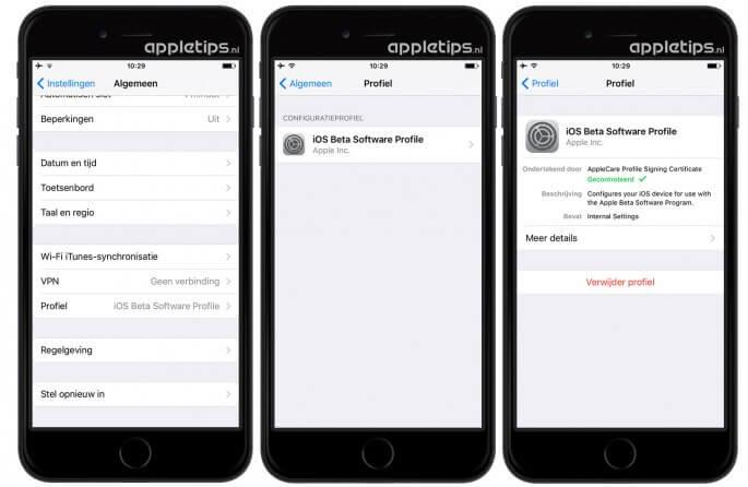 afmelden voor ios beta software-updates