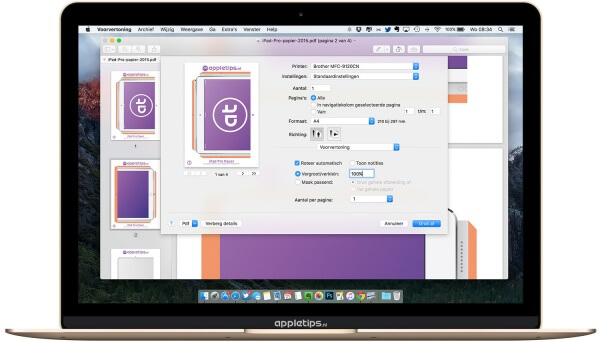 iPad Pro pdf in voorvertoning