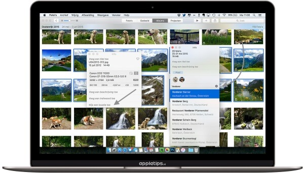 Locatie toevoegen aan Foto's voor OS X