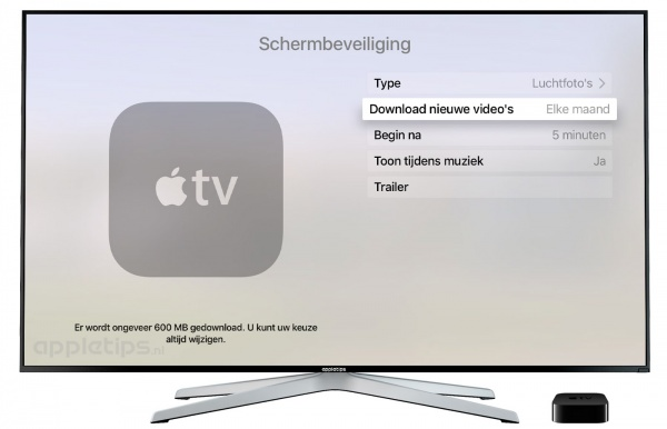 luchtfoto's screensaver apple tv 4
