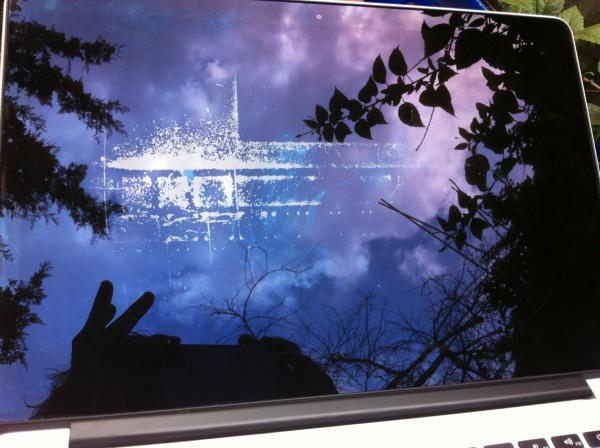 Vlekken op scherm