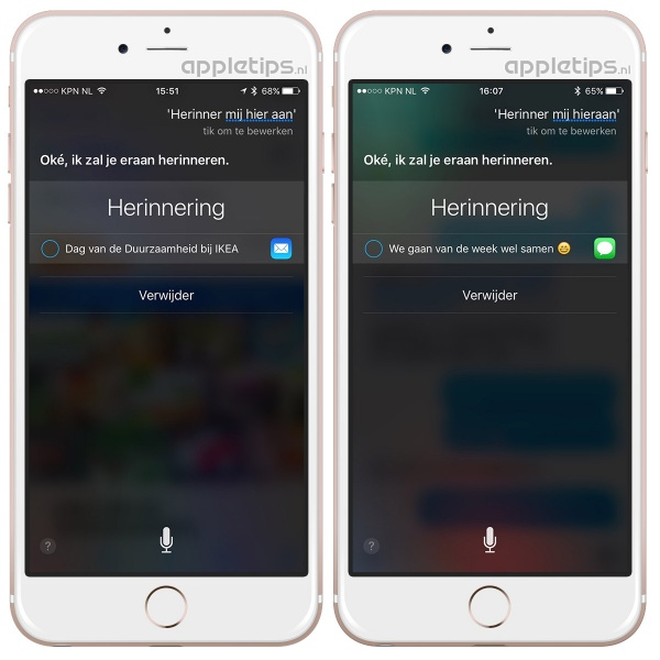 Siri herinnering
