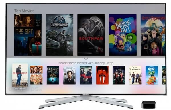 Vraagstellen aan Siri Apple TV 4