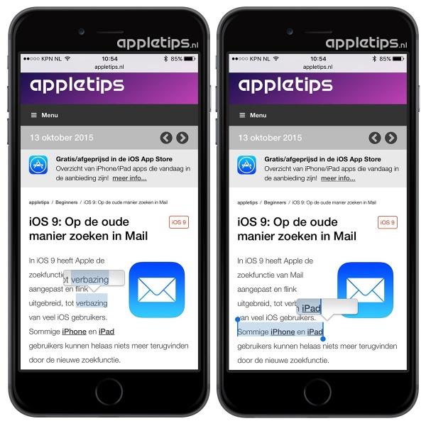 Vergrootglas iOS 9