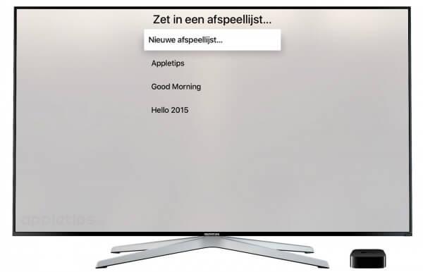 afspeellijst Apple TV