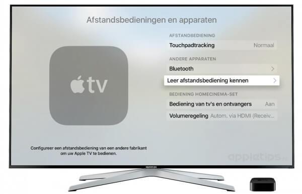 Universele afstandsbediening toevoegen Apple TV  4