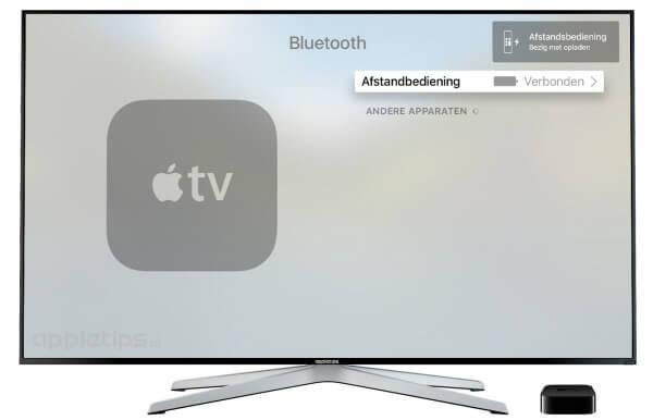 batterijniveau afstandsbediening Apple TV 4 controleren