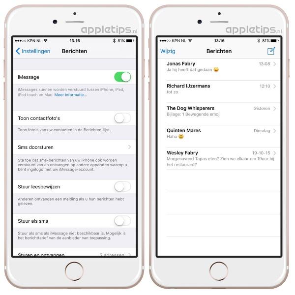 contactfoto's verwijderen iOS 9