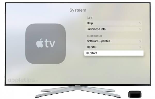 Apple TV 4 herstarten