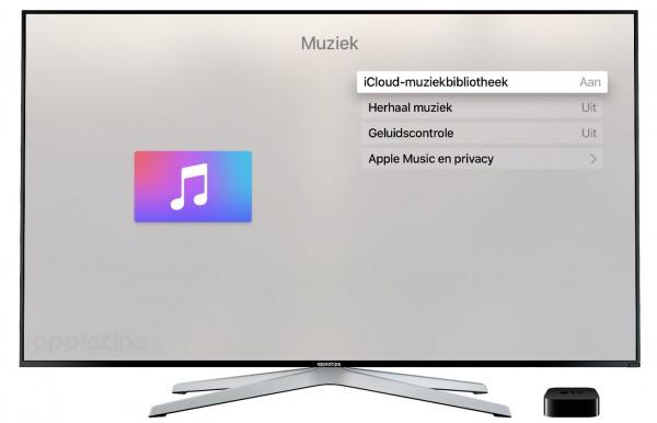 icloud-muziekbibliotheek op de Apple TV 4
