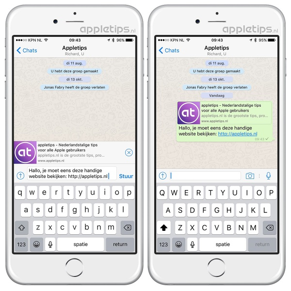 Links preview whatsapp