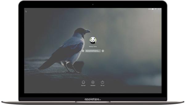 aangpast loginscherm OS X