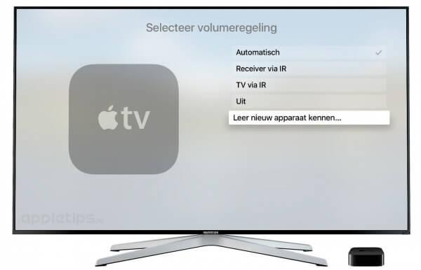 Nieuw apparaat leren kennen op de Apple TV