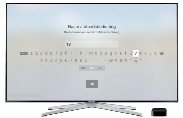 Nieuwe afstandsbediening Apple TV