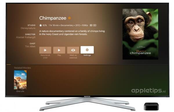 Plex op de Apple TV film